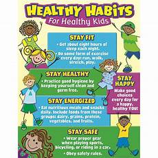 Good Eating Habits Chart Healthy Habits For Healthy Kids Chart Learning Charts