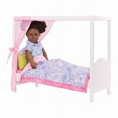 blue floral my sweet canopy bed dollhouse furniture