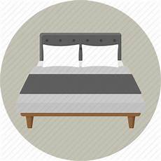 bed bedding bedroom furniture hotel pillow sleep icon