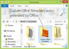 Template Office How To Change Custom Office Templates Folder Location In
