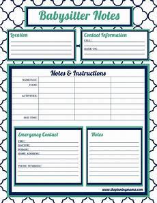 Babysitter Sign Up Babysitter Information Babysitter Checklist Babysitter