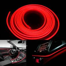 Red Led Interior Lights 5m 12v Red Neon Led Light Glow El Wire Car Interior Deco
