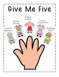 Give Me Five Rules Give Me Five Poster By Teaching Tidbits For The Busy