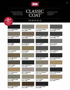 Sem Trim Paint Color Chart Sem Classic Coat Aerosol Interior Paint