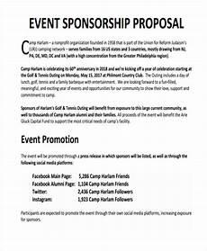 Non Profit Sponsorship Proposal Template Free 15 Sponsorship Proposal Examples Amp Samples In Pdf
