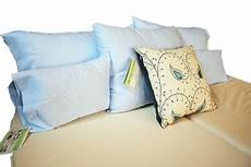 100 cotton sheets in light blue handcrafted in the usa