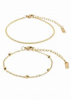 Delicate Gold Bracelet Design Delicate Bracelet Set Gold Happiness Boutique