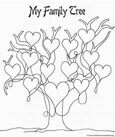 Family Tree Outlines Free Family Tree Coloring Page Family Tree Art Family Tree