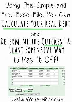 Time To Pay Off Loan Calculator How To Calculate Your Real Debt And The Quickest Least
