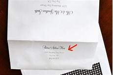 Return Envelope Return Address Printed On Back Flap Of Outer Envelope And