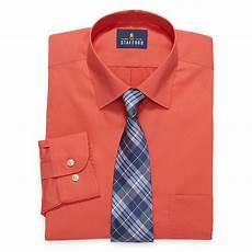 Jcpenney Stafford Shirt Size Chart Stafford Mens Spread Collar Long Sleeve Stretch Dress