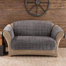 sure fit quilted velvet deluxe sofa pet throw mini check