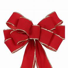 Holiday Ribbon Home Accents Holiday 10 In X 13 In Gold Edge Red Velvet
