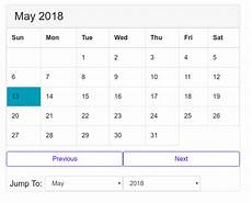 Calendar Html Code Challenge Of Building A Calendar With Pure Javascript