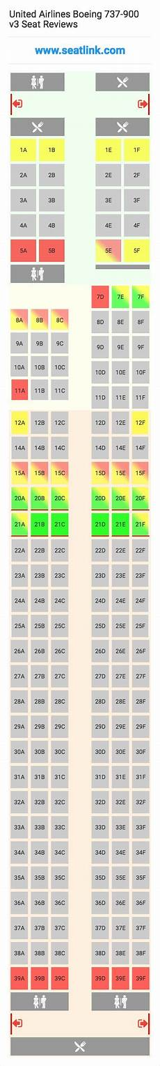 United Airlines Boeing 737 Seating Chart United Airlines Boeing 737 900 V3 Seating Chart Updated