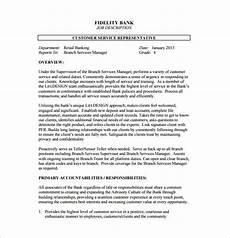 Duties Of A Customer Service Executive 13 Customer Service Job Description Templates Free
