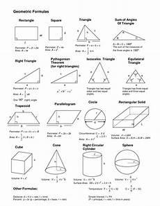 Geometric Formula Geometrical Formulas с изображениями математические