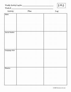 Weekly Activities Plan Weekly Activity Plan And Log That Resource Site