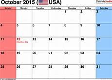 October 2015 Calendar Word October 2015 Calendars For Word Excel Amp Pdf