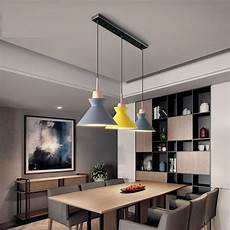 Glass Pendant Lights Over Dining Table Pack Of 3 Dining Table Lamp Lights Macaroon Colorful Led
