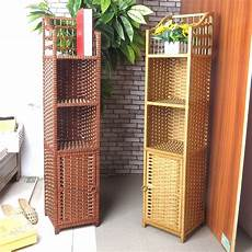 strawberry rattan simple storage cabinet bedside cabinet