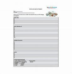 Pot Luck Sign Up 22 Sign Up Sheet Templates Free Sample Example Format