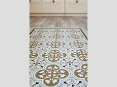 Free Shipping Tiles Pattern Decorative PVC vinyl mat linoleum rug ? Color Ocher And Brown 174