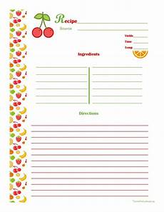 Word Template Recipe Free Editable Recipe Card Templates For Microsoft Word