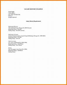 Cover Letter Salary History 25 Salary Requirements In Cover Letter Salary