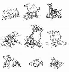 ausmalbild tiere tiere in afrika kostenlos ausdrucken