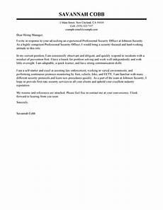 Cover Letter For Security Position Best Professional Security Officer Cover Letter Examples