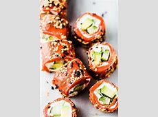 Tzatziki Avocado Salmon Rolls   The Country Cook Easy Recipes