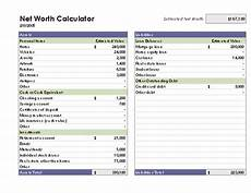 Net Worth Excel Inventories Office Com