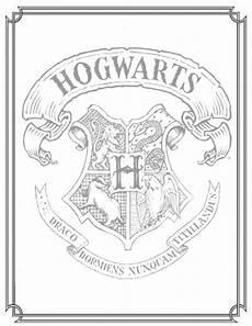 Harry Potter Wappen Malvorlagen Harry Potter Coloring Pages Hogwarts Crest Coloring Home