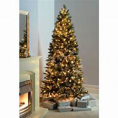 How To Check Lights On A Pre Lit Christmas Tree Pre Lit Slim Snow Flocked Spruce Multi Function Christmas