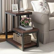 tribesigns modern end tables 3 tier chair side table