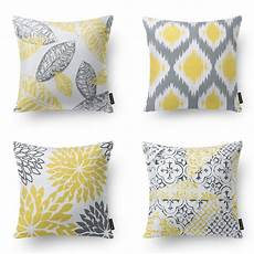 modern gray and yellow pillows set of 4 affiliate link