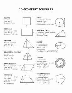Geometric Formula Basic Geometry Volume Formulas Google Search