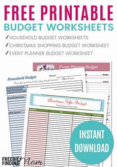 Printable Budget Sheet Free Printable 2018 Budget Worksheets Money Saving 174