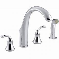 kohler k 10445 cp forte widespread kitchen faucet