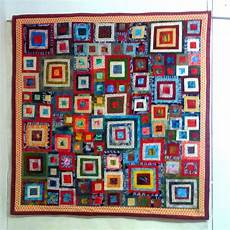joli tableau mural contemporain en patchwork textiles