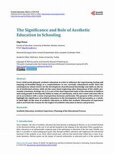 pdf the significance and of aesthetic education in