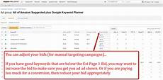 keyword bid pay per click optimizations for product caigns