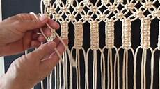how to do macrame knots vertical larks