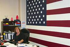 American Flag Office American Flag Mural Brightens Office Gt Marine Corps Base