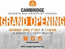 New Church Opening Flyer Grand Opening Month Cambridge Seventh Day Adventist Church