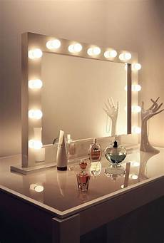 Hollywood Lighted Dressing Room Mirror High Gloss White Hollywood Makeup Dressing Room Mirror