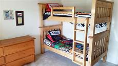 simple bunk beds white