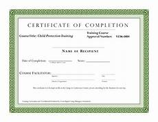 Completion Certificate Sample Course Completion Certificate Template Certificate Of