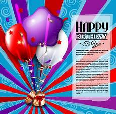 Birthday Cards Design Free Downloads Happy Birthday Greeting Cards Free Vector Download 16 671